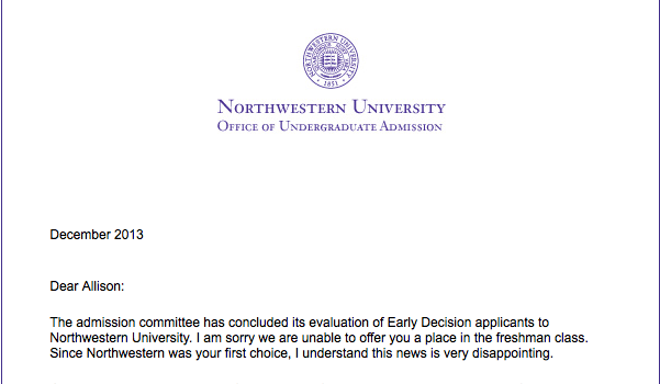 Northwestern decision date in Sydney