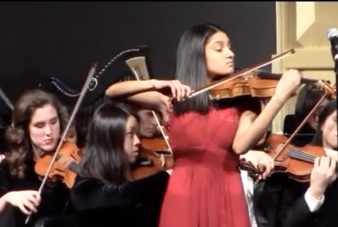 Student soloists perform at full orchestra concert