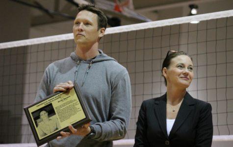Photoslider: Naperville North alum Barnett honored at NN vs Benet Academy volleyball game