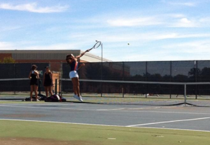 Girls tennis loses to NCHS Redhawks