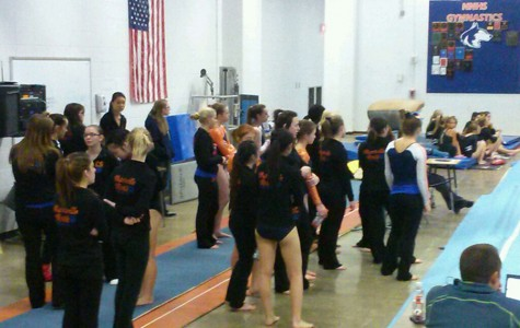 Girls gymnastics team competes in first meet of the season