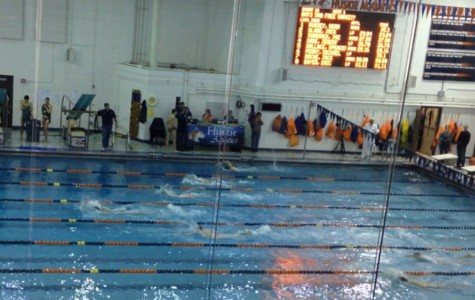 Boys swim and dive team loses crosstown classic