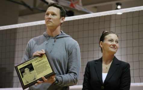Photoslider: Naperville North alum Barnett honored at NN vs Benet Academy volleyball game