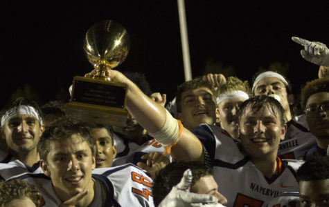 Huskie football clinches playoff berth with thrilling Crosstown victory