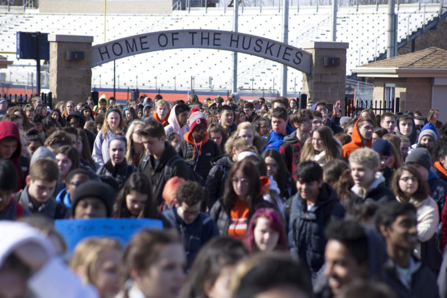 Naperville North students hold peaceful protest in solidarity with Parkland, Fla.