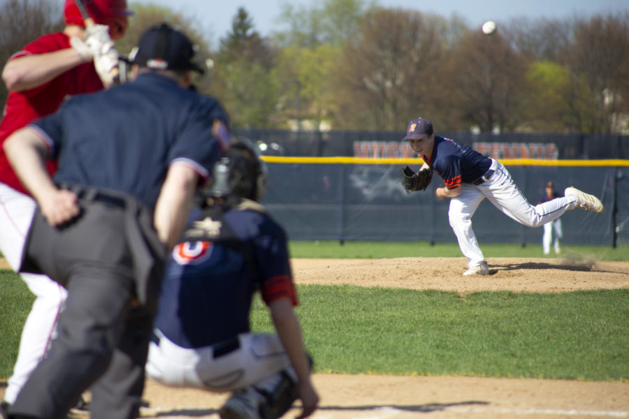 Huskie baseball falls to crosstown rivals