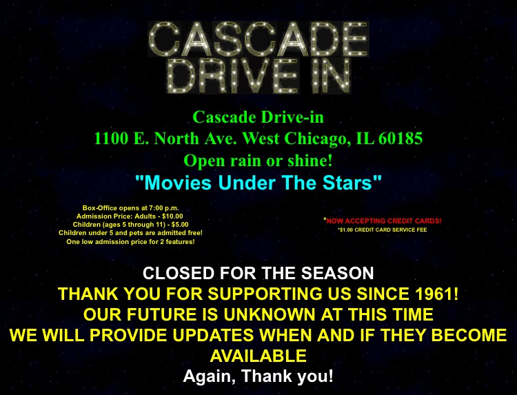 Cascade Drive-In's fate in question after land lease expires