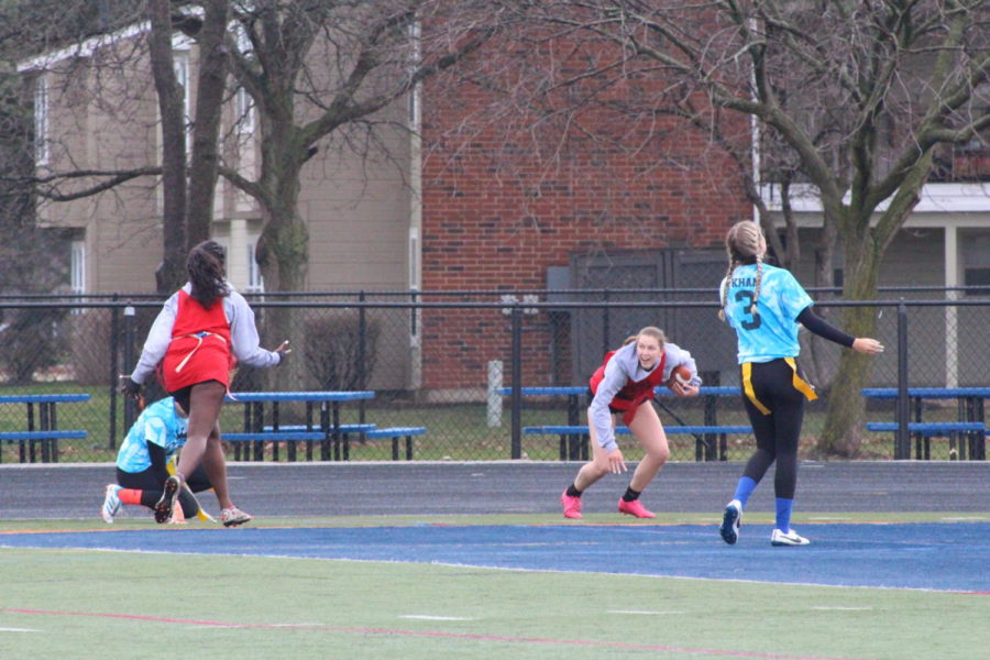 Photoslider: NNHS seniors take to the field for the Powder Puff games