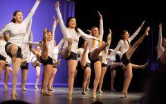 Nadia Hansen, Emma Lin, Brooklyn Kuhny and Stephanie Uribe dance to