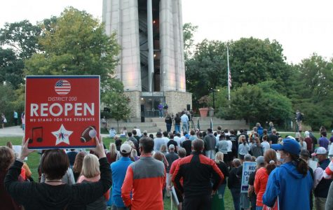 Rally for in-person learning and a return to sports takes place in Naperville