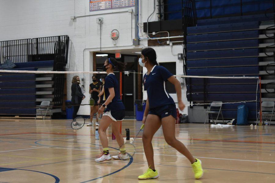 Huskie girls badminton defeats Metea Valley
