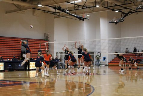 North Girls Volleyball continues undefeated season with win against Neuqua Valley