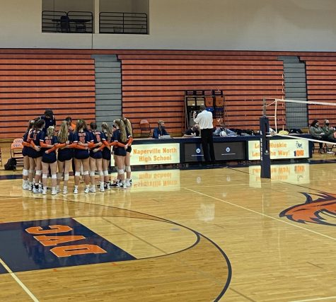 North girls volleyball defeats Neuqua Valley in first conference game